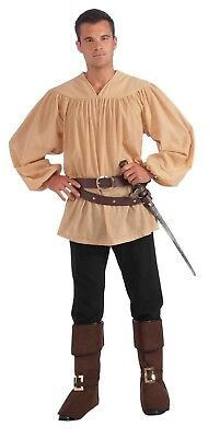 Beige Medieval Man Adult Costume Shirt One Size Fits Most