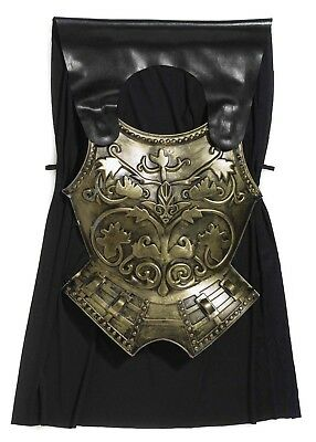 Roman Armor Chest Plate & Cape Costume Accessory Set