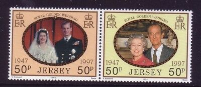 1997 Jersey. Golden Wedding of Queen Elizabeth and Prince Phillip  SG 840/1 MNH