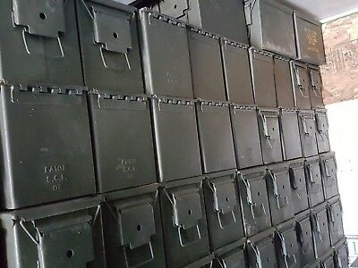 Lot of (100) FAT 50 cal Empty Ammo Cans Military Surplus