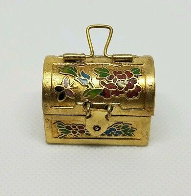 Cloisonne Treasure Box With Thimble