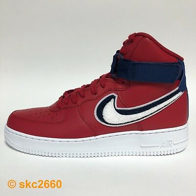 best sneakers 2c64d 2cad3 NIKE Air Force 1 HIGH 07 LV8 8-13 GYM RED WHITE BLUE 806403-