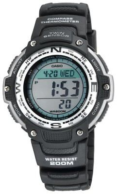Casio Men's Digital Compass & Thermometer Black Watch SGW100-1