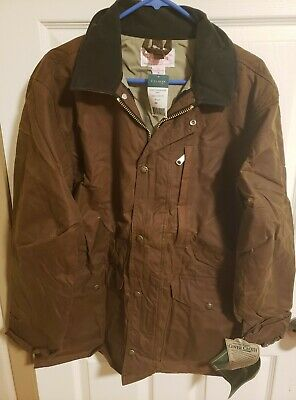 Brand New  Brown Filson Cover Cloth Weekender Coat 10023 Mile Marker. Made USA.