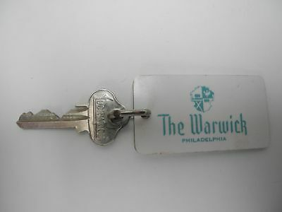 Vintage The Warwick, Philadelphia, PA hotel Room 1119 Key and fob