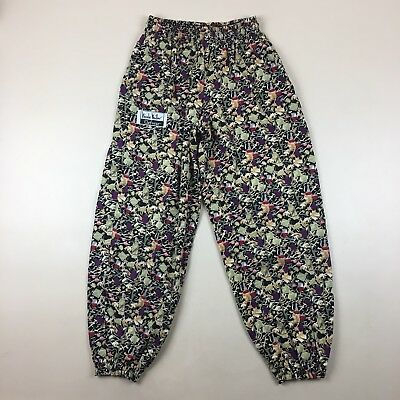 Vintage Nicole Miller Chefwear Baggy Chef Pants Stretch Waist & Ankles Size S