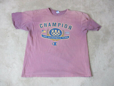 cfd8501e5a4a VINTAGE Champion Shirt Adult Extra Large Purple 1996 Olympics Spell Out Mens  90s
