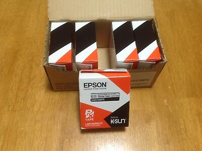 "Lot of 5 K-Sun 208STBW Black on White Shrink Tube 1/4"" KSun Epson 208STBWPX"