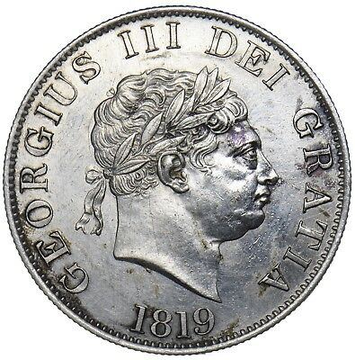 1819 Halfcrown - George Iii British Silver Coin - V Nice