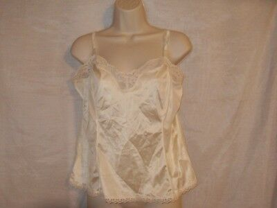Cami Top Camisole Top By Mel-Lin Vintage Ivory Made In The USA Large Mel Lin