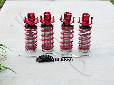 Red Lowering Suspension Spring Coilover Shock Top Hat Kit For Civic 88-00 DC2