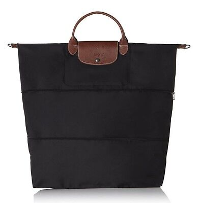 NWT Sealed Authentic LONGCHAMP Le Pliage Expandable Tote in Black MADE IN  FRANCE 2072fa263b7e7