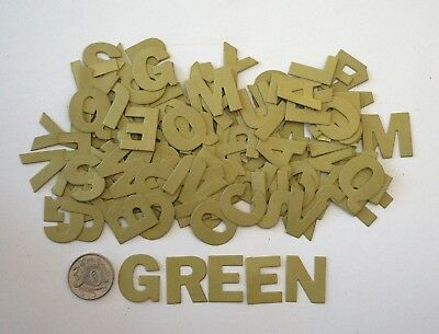 NO 424 Scrapbooking - 130 Green Alphabet / Letters - Not Stickers - Scrapbook