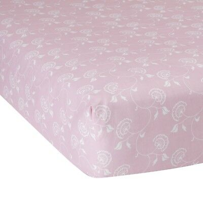 Lambs & Ivy Pink Floral Fitted Crib Sheet NWT Classic Collection Baby Nursery