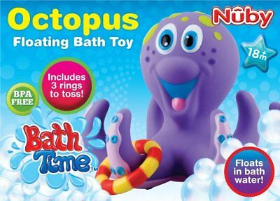 Nuby Octopus Ring Toss Bathtime Tub Pool Baby Toddler Playing Fun Floating Toy