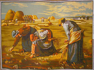 "Vintage MARGOT de Paris ""Les Glaneuses"" Needlepoint Canvas NEW Tapestry Craft"