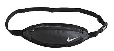 65cd9d64a0f16 Nike Small Capacity Waist Bags Black Hiking Run Waistbelt Fanny Bag AC4059- 082