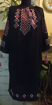 Ukrainian Hand Embroidered Woman's Dress, size - XL,  Ukraine