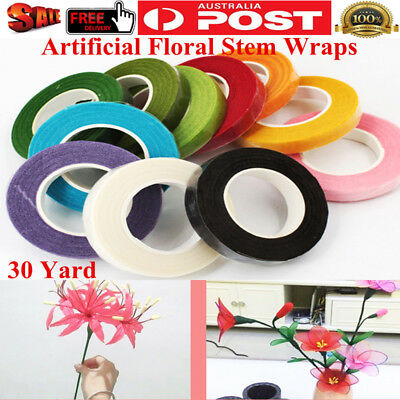 30 Yard Artificial Paper Adhesive Tape Florist Floral Stem Wrap Tape Craft Roll