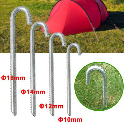 "10 to100 Extra Strong Heavy Duty Camping Tent Pegs 9/"" x 1//4/"" for Hard//Med Ground"