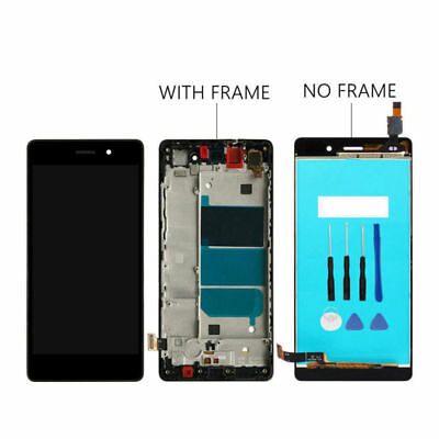 Per Huawei Ascend P8 Lite ALE-L21 TOUCH SCREEN VETRO + LCD DISPLAY + FRAME real2