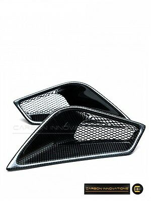 Ducati 848/1098/1198 Carbon Fiber Rear Tail Seat Air Vents (Pre-Preg)
