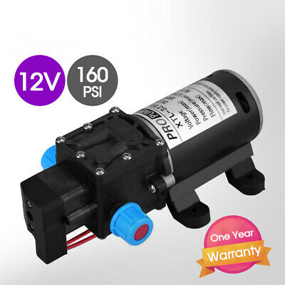 12V 100W 160PSI Pressure Water Pump 8L/Min Self-Priming Caravan Camping Boat