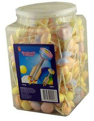 SWEETWORLDS SHERBET LOLLIPOPS 200 Pieces,  1.6kg Best Before: 2020