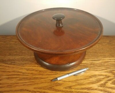 Substantial Late Victorian Turned Mahogany & Fruitwood Tazza/cake Stand