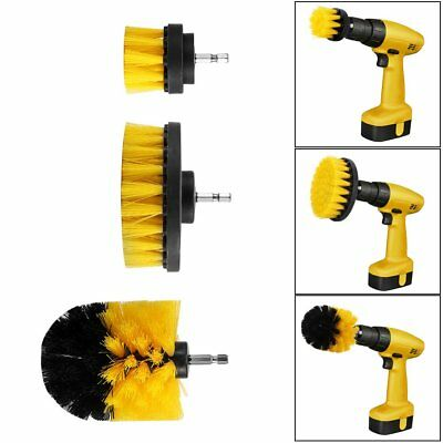3Pcs/Set Tile Grout Power Scrubber Cleaning Drill Brush Tub Rotary Combo