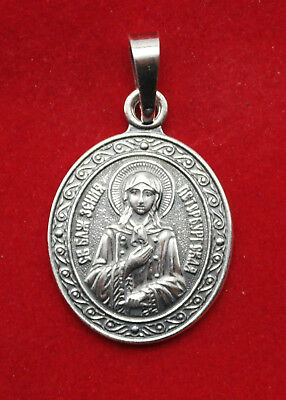 Russian Orthodox Patron Saint Medal Pendant St. Xenia of Petersburg