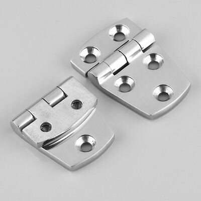 1 Pair AISI 316 Marine Grade Stainless Steel Boat Cabin Door Hinge 57*38mm