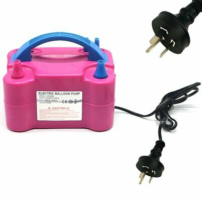 Electric Balloon Inflator Pump 2 Nozzle High Power Air Blower Portable AU Plug