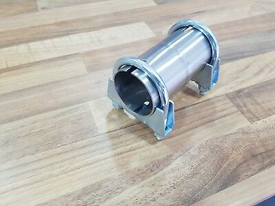 """2.75"""" 70mm Exhaust Pipe connector sleeve + Clamps Joiner tube adapter 2 3/4"""" UK"""