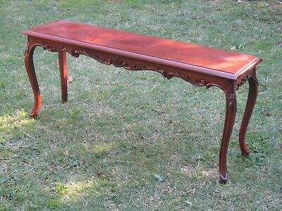 Vintage French Style Mahogany Window Seat Hall Bench