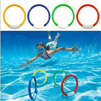 underwater swimming diving sinking pool toy rings for kid children 4pcs 71893003