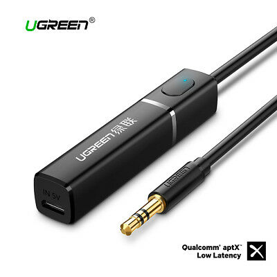 Transmisor de audio Bluetooth 4.2 APTx Jack 3.5mm UGREEN para TV PC PS4 XBOX
