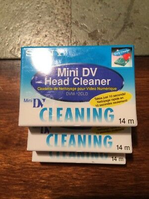 Sony Dvm-12Cld Head Cleaner Cassette Tape New Sealed Priced Each