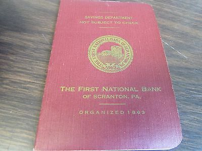 Vintage - The First National Bank - Savings Book - Scranton Pa 1960
