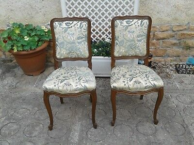 French antique vintage Louis XV style pair of chairs