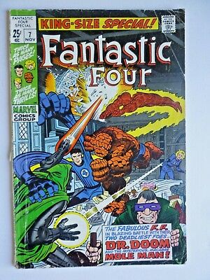 Fantastic Four King Size Annual #7 Origin Dr Doom 1969 Silver Age Marvel Comics