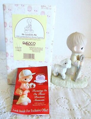 1998 Enesco Precious Moments He Leadeth Me Limited Edition E1377R w/ Box