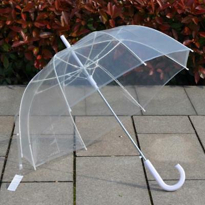 Transparent Umbrella Clear Plastic Parasol Rain Sun Dome Women Wedding Fashion