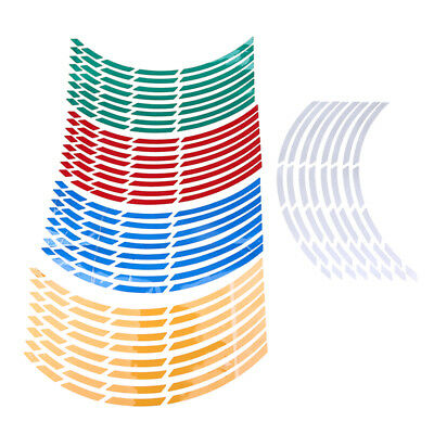 """16 Strips Reflective Motorcycle Car 17""""-19"""" Wheel Rim Stripe Tape Decal Stickers"""