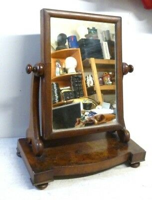 Antique Victorian Mahogany Free Standing Dressing Table Mirror