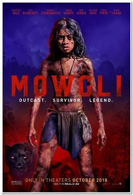 MOWGLI - 2018 - Original 27x40 ADVANCE movie poster - BENEDICT CUMBERBATCH