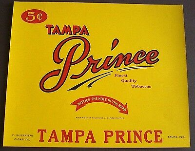 Tampa Prince inner cigar label