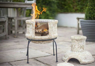 Outdoor Chiminea Fireplace Garden BBQ Grill Pizza Oven Chimenea Patio Heater Pit