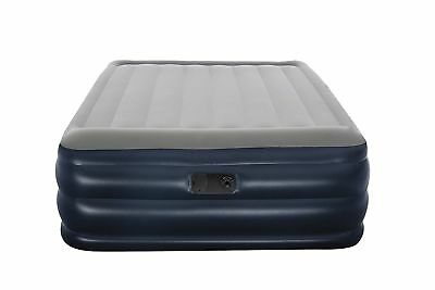 Inflatable Double Air Bed Camping Blow Up Pillow Pump Mattress Navy Tent Outdoor