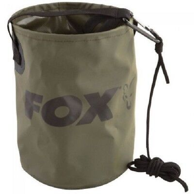FOX COLLAPSIBLE WATER BUCKET 4.5L Inc Rope & Clip - CCC040 Carp Fishing